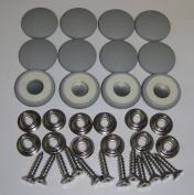 Set Of 12 Dura Snap Upholstery Buttons #36 Medium Grey Vinyl