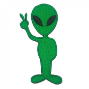Alien Cartoon Logo Embroidered Iron on Patches