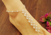 2PCS(1 Pair) Pearl Barefoot Sandals Beach Wedding Foot Jewellery Anklet Ankle Bridal Bracele