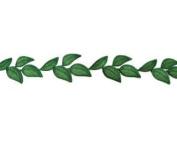Simple Leaf Embroidered Trim By Shine Trim - Dark Green