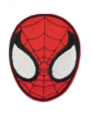 2 pieces Superhero Iron On Patch Embroidered Applique Motif Fabric Comics Movie Decal 3.6 x 2.9 inches