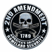 Embroidered Iron On Patch - 2nd Amendment America's Original Homeland Security