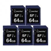 Smart Buy SD XC Class 10 Memory Card SDXC C10 Ultra U1 UHS-I HD Fast Speed for Camera (64GB