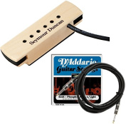 Seymour Duncan Woody XL Hum-Cancelling Acoustic Guitar Pickup w/ Strings and Cable