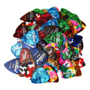 Alice Colourful Celluloid Standard Guitar Picks in Light, Medium and Heavy - 100pcs