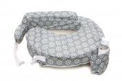 Zenoff Products Nursing Pillow Slipcover, Sage Dotted Daisies, Grey, Green
