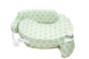 Zenoff Products Nursing Pillow Slipcover, Sage Dotted Daisies, Green
