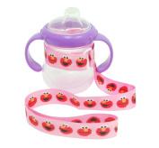 Petite Creations No Throw Sesame Street Bottle Holder Elmo, Pink