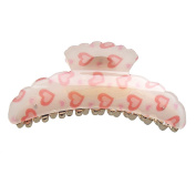 Hair Accessory - Large Heart Hair Jaw Claw Clip