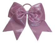 """New """"Sparkle Dots Light Pink"""" Cheer Bow Pony Tail 7.6cm Ribbon Girls Hair Bows Cheerleading Dance Practise Football Games Competition Birthday"""