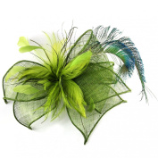 Peacock Feathers Dramatic Occasion Hat for Women, Stunning Feather Fascinator for weddings or the Races, Stunningly . Elaborate Sculptured Headwear in Two colour options.