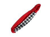 Crimson and Houndstooth Stretch Headband Hair Accessory