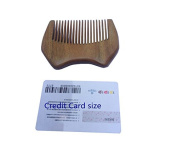 EQLEF® Super small size green sandal wood wallet comb as carry comb or beard comb