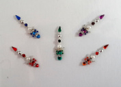 Stick On Ornament Bridal Bindi Forehead Stickers Body Art Tattoo Jewellery Bellydance - #22