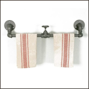 Industrial Style Towel Rack with Valve from Colonial Tin Works