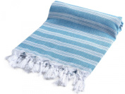 Cacala Light Pestemal Turkish Bath Towels 37x70 for Bath Hamam Unisex Blue