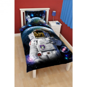 THUMBS UP SPACEMAN Childrens Duvet and Pillowcase Cover Set