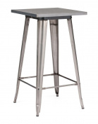 Industrial Steel Bar Table