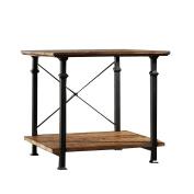 Homelegance Factory End Table in Rustic Brown