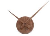 TiiM® Simple Elegant Glossy Aluminium Wall Clock, Oak