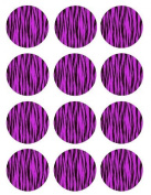 Single Source Party Supply - Zebra Cupcake - Purple Edible Icing Image #1