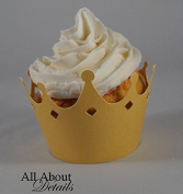 All About Details Shimmer Gold Crown Cupcake Wrappers, Set of 12