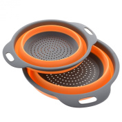 Kitchen Maestro Collapsible Silicone Colander/Strainer. Includes 2 Sizes 8 and 24cm . …
