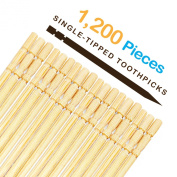 1200 Pieces ★ Single-tipped ★ Homework2 Cocktail Sticks, Ornate Wood Toothpicks Party
