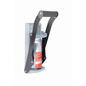 Aunt Chris' Products - Easy Pull ~ Heavy Steel Structured ~ Aluminium Can Crusher - Wall Mount - Cushion Grip Handle - Crushes Up to 470ml Aluminium Cans - With Built-In Bottle Opener in Bottom
