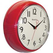Westclox 32042R Retro 1950 Kitchen Wall Clock, 24cm