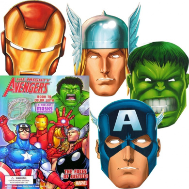 Marvel Avengers Colouring Book with 6 Avengers Masks (Pop-Out): The Incredible Hulk, Thor, Iron Man, Captain America, and More!
