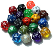 The 20/20 Dice Pack | Twenty 20-Sided Dice