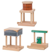 Water Tower, Coal Hopper, Diesel Fuel Station Combo Pack for Wooden Railway Fits Thomas Wooden, Chuggington, Brio