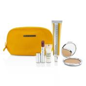 The Summer SPF Set (1x Primer, 1x Tinted Lip, 1x Bronzer, 1x Exfoliating Cream), 4pcs+1bag