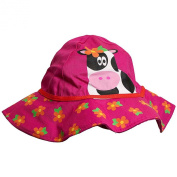 Baby Girls Cow Print Floppy Sun Hat