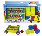 First Steps Pull Along Block Truck with Eight Blocks Suitable .