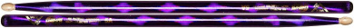 Vater Percussion Colour Wrap 5A Drumsticks, Purple Optic, Wood Tip