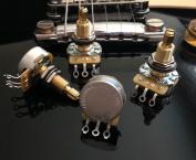 Set of 4 (4X) CTS 450S Custom Series 500K LONG Split Shaft Audio Taper Potentiometers