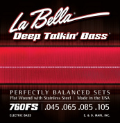 LaBella 760FS Stainless Steel Bass Guitar Strings, Medium