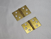 Piano Bench Hinge - Set of 2 - Brass Plated Replacement Hardware