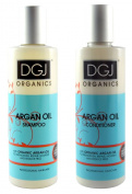 DGJ Organics Argan Oil Shampoo 250ml & Conditioner 250ml Duo