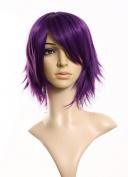 INHDBOX Cosplayland - C197 40cm layered flip out heat-resist Theatre Cosplay Wig - Purple