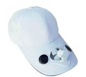 Solaration® 7001 White Fan Baseball Golf Hat