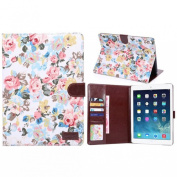 Ukamshop(TM)New Floral Flip Leather Wallet Cover Case For iPad Air 2
