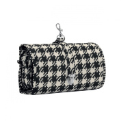 Reisenthel wrapcosmetic large hanging toiletry bag - fifties dogtooth cheque
