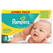Pampers New Baby Size 2 (Mini) Jumbo Pack - 70 Nappies