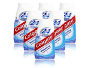 6x Colgate 2 in 1 Toothpaste & Mouthwash Whitening 100ml Travel Size
