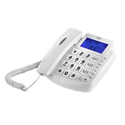 Big Button LCD Hands Free Telephone With Auto-redial function In White