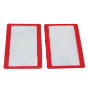2 Pcs PVC Reading Credit Card Pocket Magnifier Magnifying Lens Tool 55x85mm