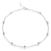 Sterling Silver Ankle Chain with Baubles - Variable Length 24-26.5cm